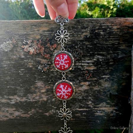 Brățară Handmade de Crăciun - Fulg de Gheață1
