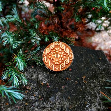 Broșă Handmade Cu Motive Populare Tradiționale