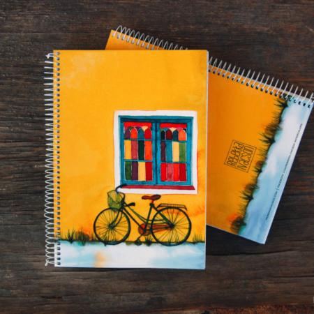 Caiet personalizat – bicicletă și culoare0