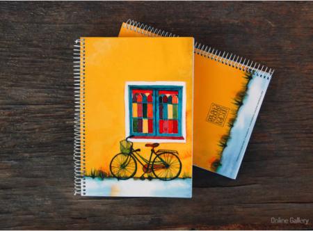 Caiet personalizat – bicicletă și culoare1