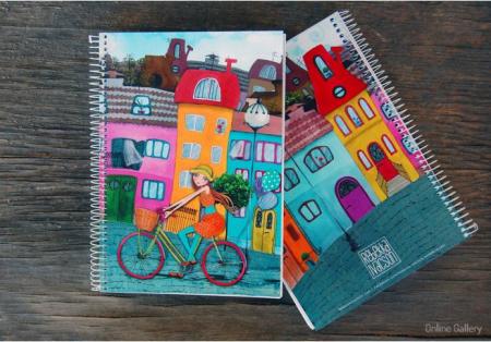 Caiet personalizat – Biciclista