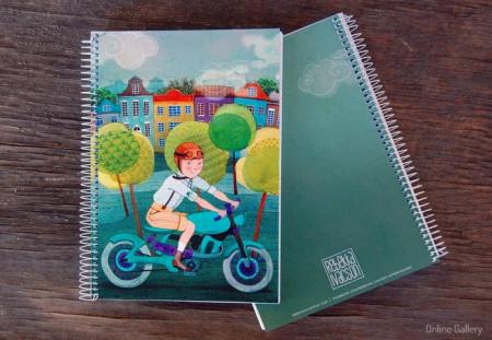 Caiet personalizat – Jurnal pe motocicletă1
