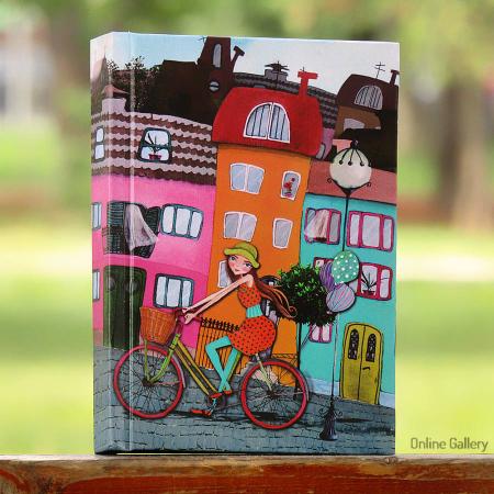 Caiet tip agendă personalizat – Bicicleta cu baloane