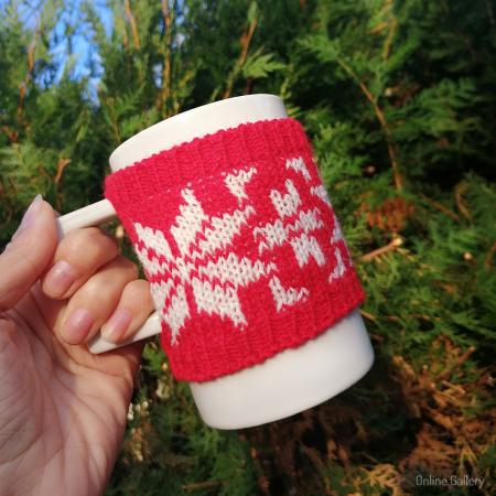 Cană îmbrăcată de Crăciun - Roșie1