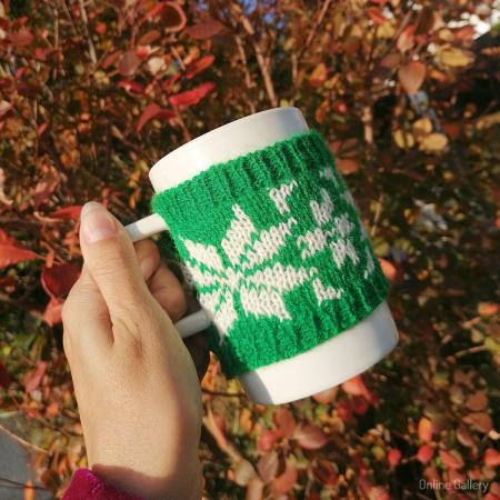 Cană îmbrăcată de Crăciun - Verde0