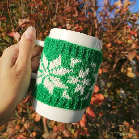 Cană îmbrăcată de Crăciun - Verde1