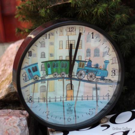 Ceas de perete decorativ - trenul visurilor0