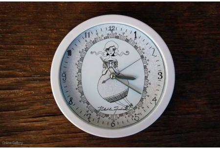 Ceas decorat cu grafică – Zâna Ceaiului