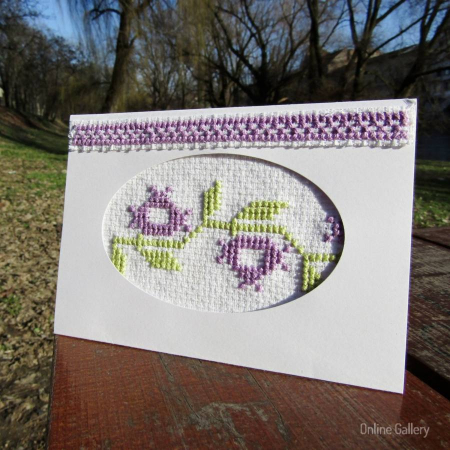 """Felicitări handmade """"Armonie de primăvară""""0"""