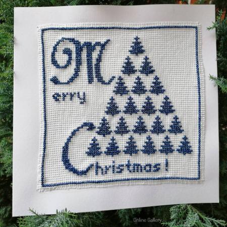 Felicitare Brad de Crăciun lucrată manual1