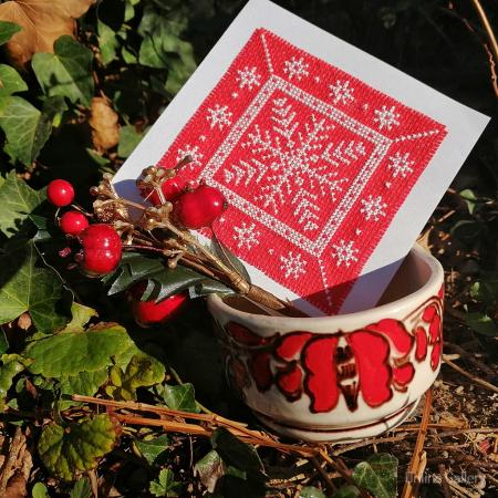 Felicitare de Crăciun - Fulg de Gheață1