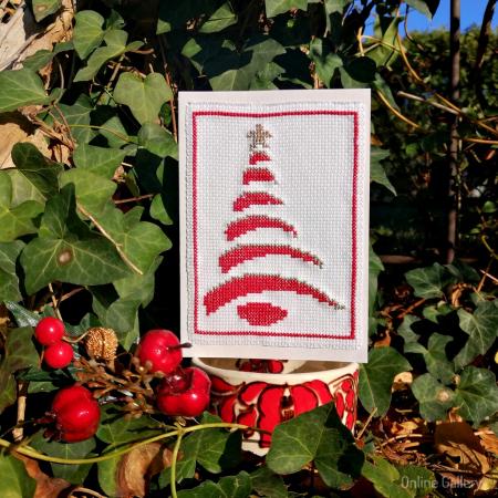 Felicitare Handmade - Brăduț de Crăciun0