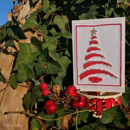 Felicitare Handmade - Brăduț de Crăciun1