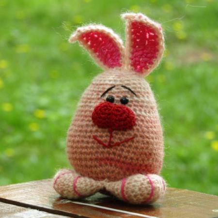 Jucărie iepuraș roz0
