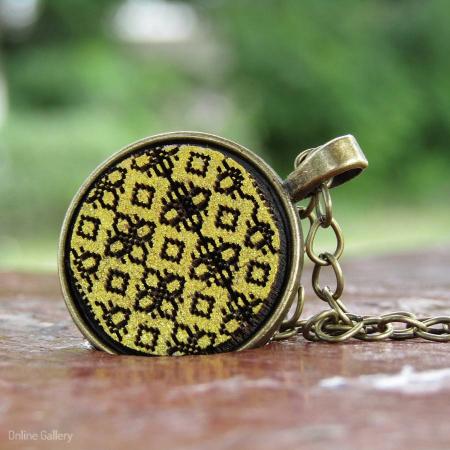 Pandantiv Auriu Inspirat De Klimt