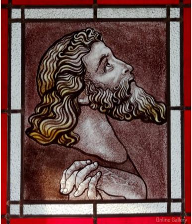 Rugaciune – vitraliu pictat