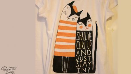 Set tricouri pictate cu pisici și mesaj1
