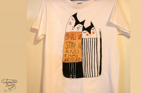 Set tricouri pictate cu pisici și mesaj2