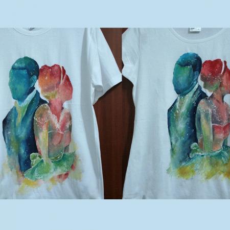 Set tricouri pictate cuplu0