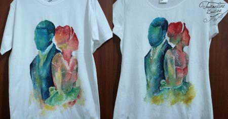Set tricouri pictate cuplu1