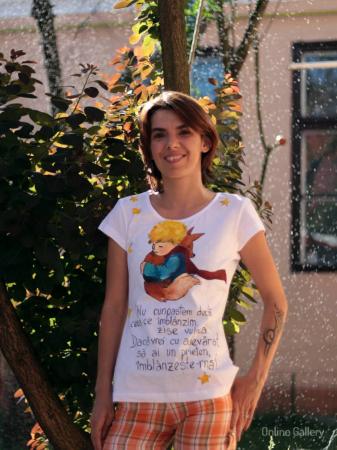 Tricou pictat - Micul Prinț și Vulpea1