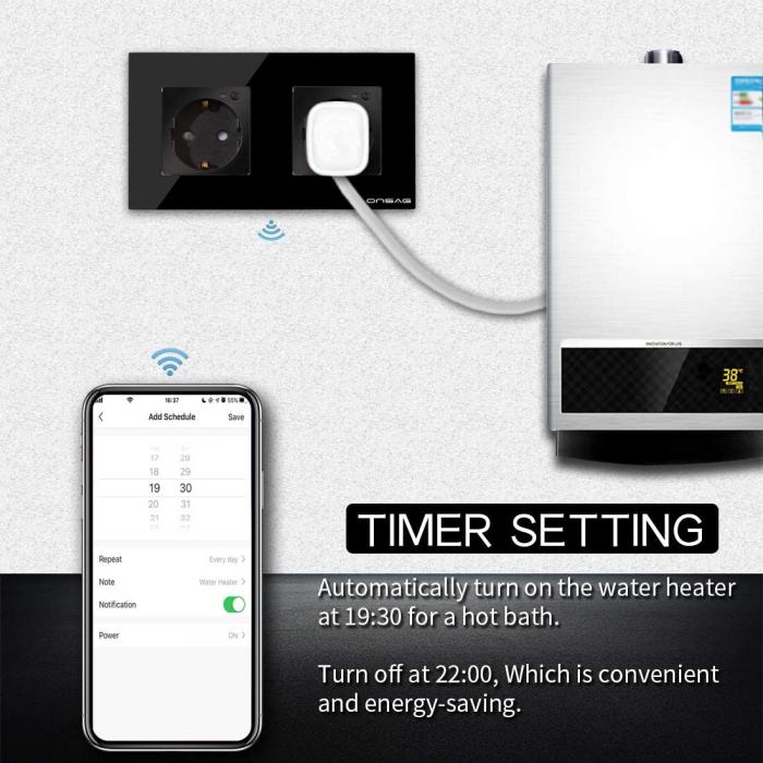 Priza Smart WiFi dubla Onsag X302 Black [3]