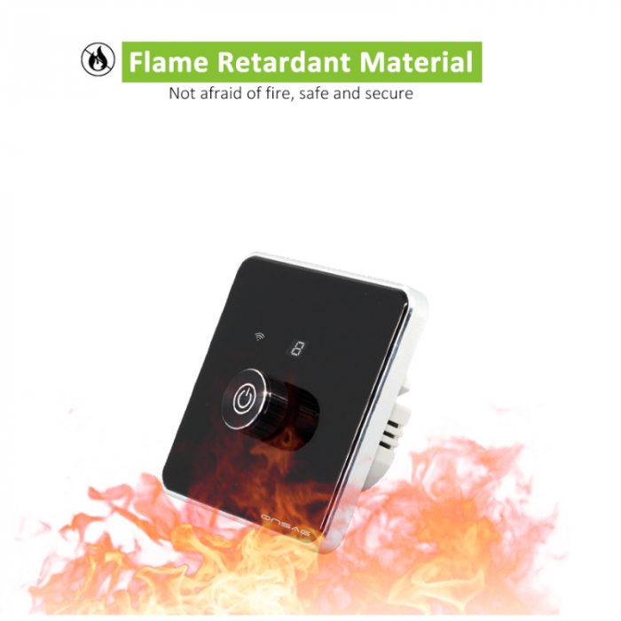 Intrerupator cu variator (Dimmer) Smart Onsag Luxury X806 Black [7]
