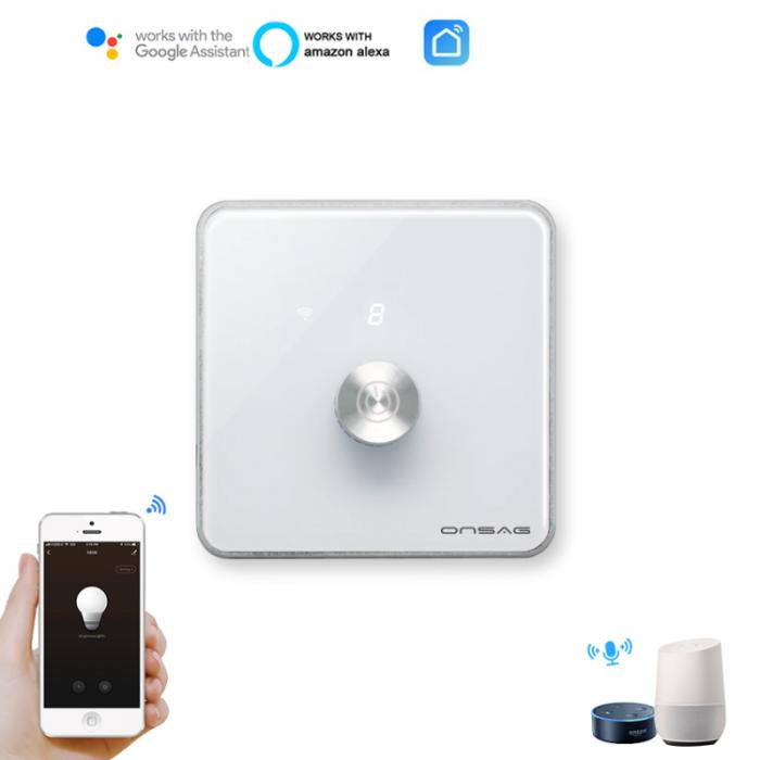Intrerupator cu variator (Dimmer) Smart Onsag Luxury X806 White [6]