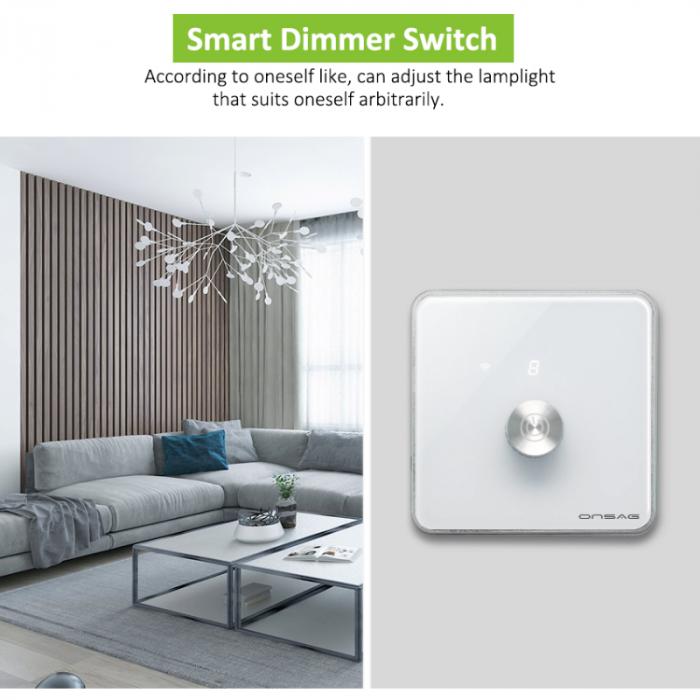 Intrerupator cu variator (Dimmer) Smart Onsag Luxury X806 White [5]