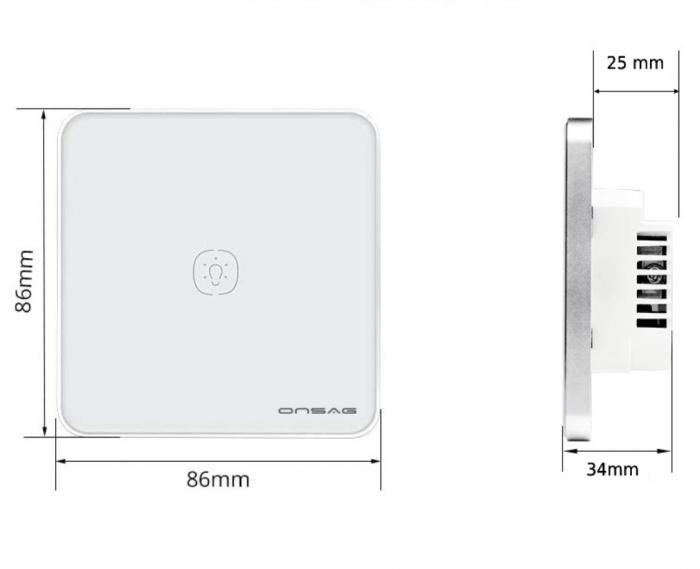 Intrerupator Smart Onsag Luxury X801U-L Pro Black [3]