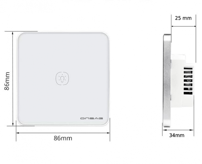 Intrerupator Smart Onsag Luxury X801U-L Pro White [8]
