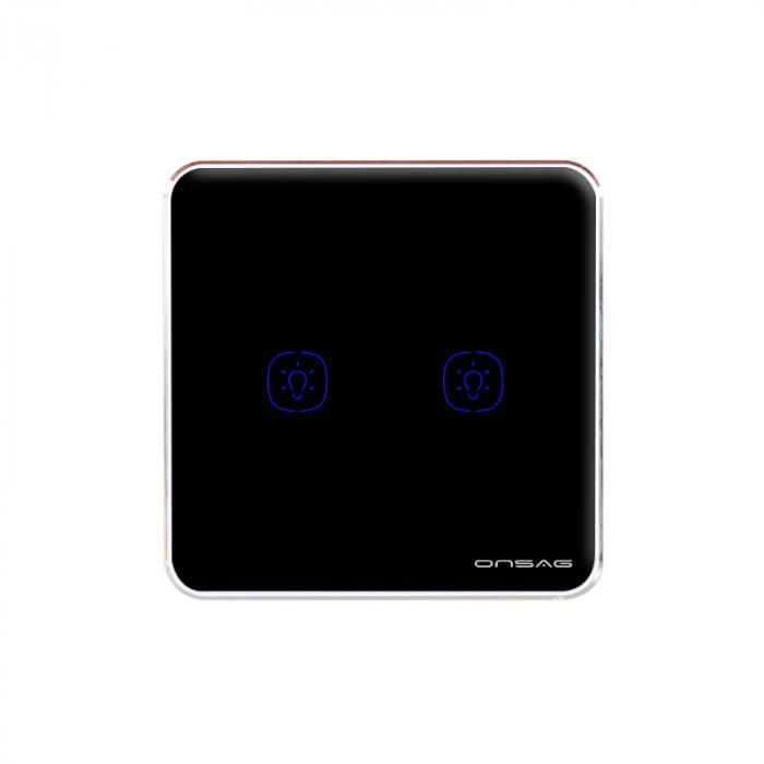 Intrerupator Smart Onsag Luxury X802U-L Pro Black [2]