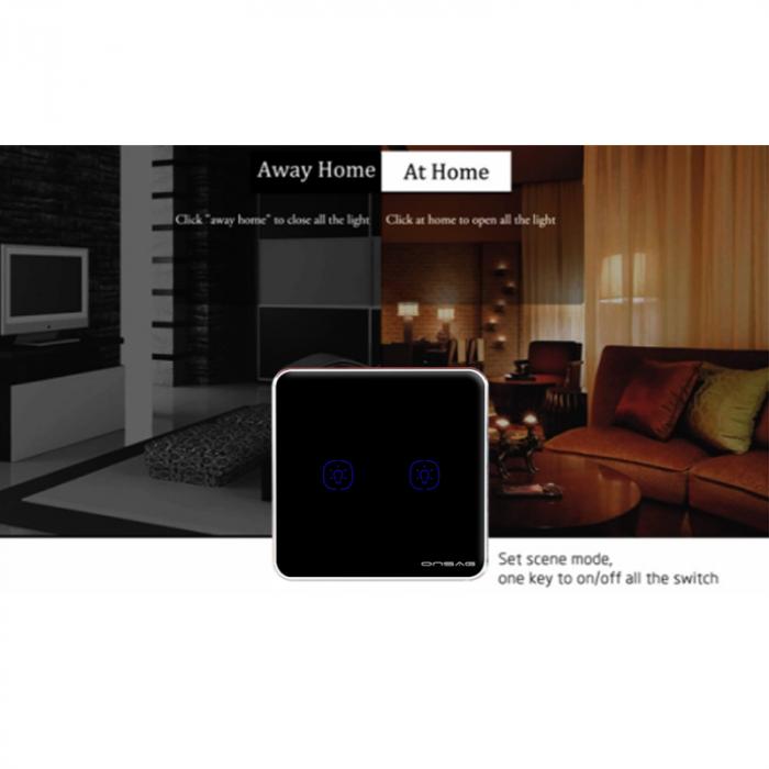 Intrerupator Smart Onsag Luxury X802U-L Pro Black [6]
