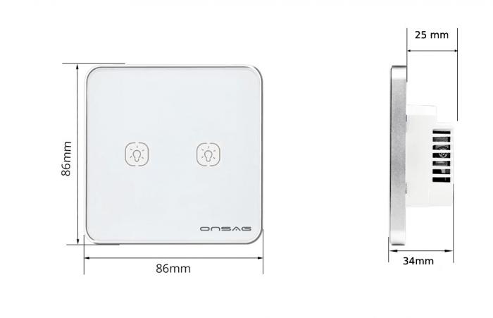 Intrerupator Smart Onsag Luxury X802U-L Pro White [6]