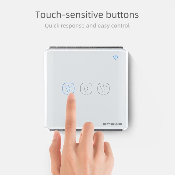 Intrerupator Smart Onsag Luxury X803U-L Pro White [2]