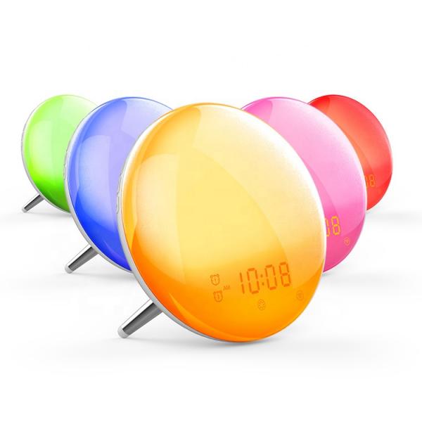 Radio FM cu ceas, Onsag Leon, 7 culori LED, Simulare răsărit, Smart Wake-up light, WiFi, App control, Sunete albe, port USB, Alexa/Google Home [1]