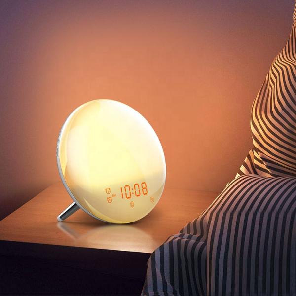 Radio FM cu ceas, Onsag Leon, 7 culori LED, Simulare răsărit, Smart Wake-up light, WiFi, App control, Sunete albe, port USB, Alexa/Google Home [4]