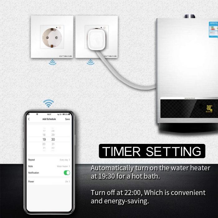 Priza Smart WiFi Onsag X301 White [3]