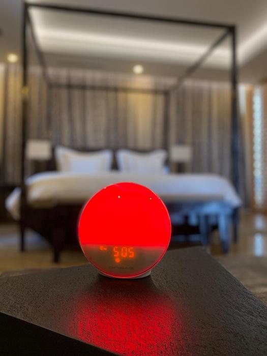 Radio FM cu ceas, Onsag Rio, 7 culori LED, Smart Wake-up light, WiFi, App control, Simulare rasarit, Sunete albe, port USB, Alexa/Google Home [5]
