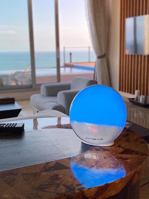 Radio FM cu ceas, Onsag Rio, 7 culori LED, Smart Wake-up light, WiFi, App control, Simulare rasarit, Sunete albe, port USB, Alexa/Google Home [6]