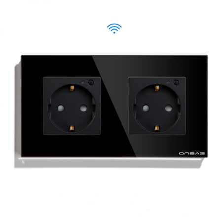 Priza Smart WiFi dubla Onsag X302 Black [0]