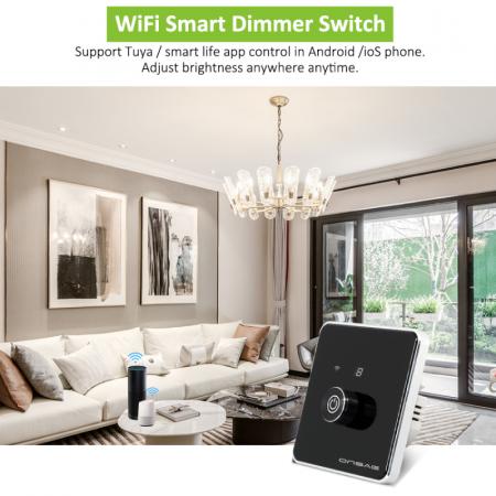 Intrerupator cu variator (Dimmer) Smart Onsag Luxury X806 Black [8]