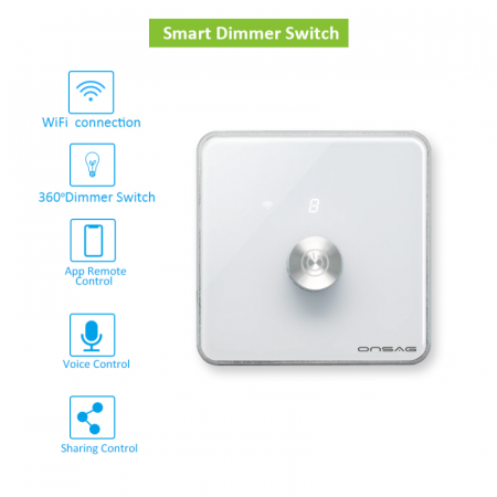 Intrerupator cu variator (Dimmer) Smart Onsag Luxury X806 White [2]