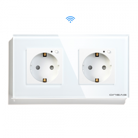Priza Smart WiFi dubla Onsag X302 White [0]