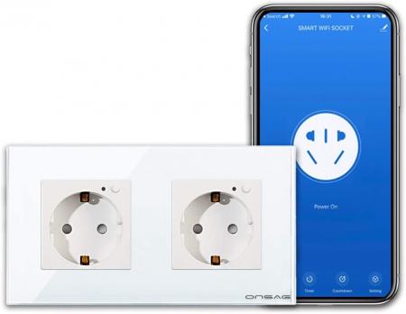 Priza Smart WiFi dubla Onsag X302 White [2]