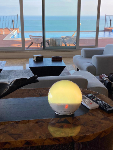 Radio FM cu ceas, Onsag Rio, 7 culori LED, Smart Wake-up light, WiFi, App control, Simulare rasarit, Sunete albe, port USB, Alexa/Google Home [2]