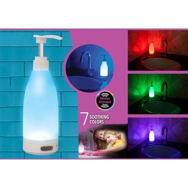 Dozator de sapun cu lumina LED, 400 ml, senzor de miscare 1