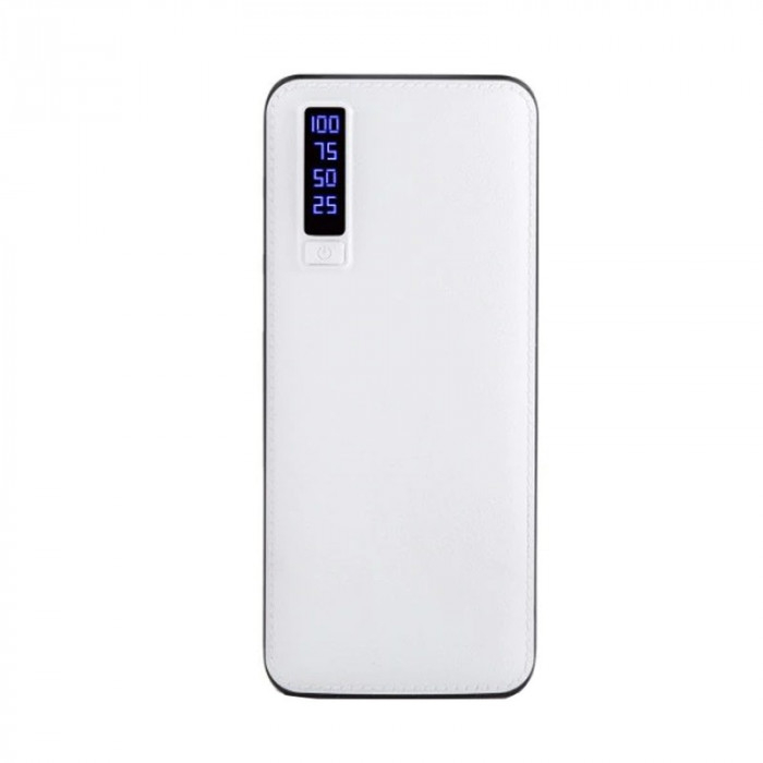 Baterie Externa Smart Power Bank 10000 mAh, 3 x USB, Design Piele 1