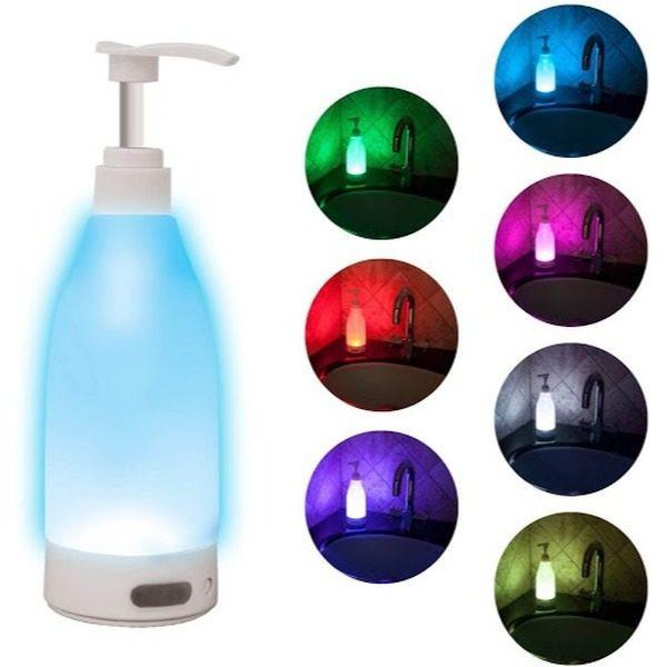 Dozator de sapun cu lumina LED, 400 ml, senzor de miscare 0