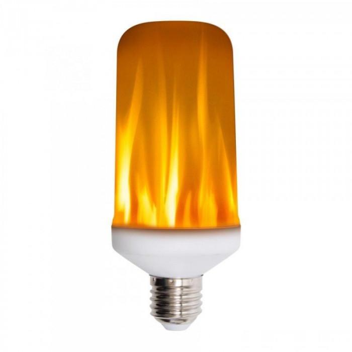 Bec LED cu efect de flacara 5W, lumina calda, E27 0